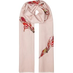 Janavi Fairy Birds Cashmere-blend Scarf found on MODAPINS from Harvey Nichols for USD $806.46