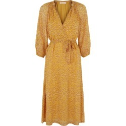Traffic People Belt Up Animal Print Midi Dress In Yellow found on Bargain Bro UK from Harvey Nichols