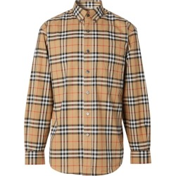 Burberry Button-down Collar Vintage Check Cotton Shirt found on MODAPINS from Harvey Nichols for USD $385.80