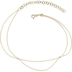 Kismet By Milka 14ct Rose Gold And Diamond Two Chains Anklet found on Bargain Bro UK from Harvey Nichols
