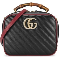 Gucci GG Marmont Black Leather Shoulder Bag found on MODAPINS from Harvey Nichols for USD $2105.00