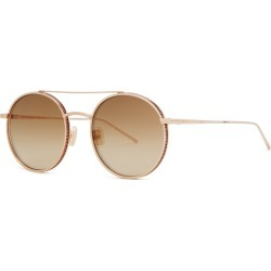 Boucheron Gold Round-frame Sunglasses found on MODAPINS from Harvey Nichols for USD $760.35
