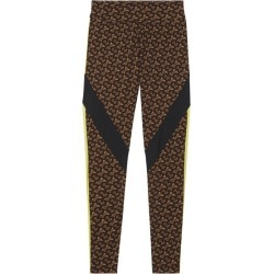 Burberry Colour Block Monogram Print Stretch Jersey Leggings found on MODAPINS from Harvey Nichols for USD $518.83