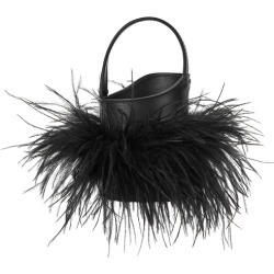 ATP Atelier Lilliano Feather-embellished Top Handle Bag found on Bargain Bro UK from Harvey Nichols