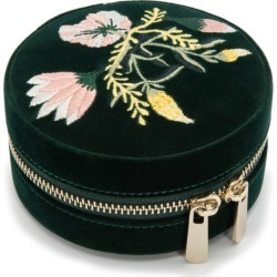 Wolf Zoe Forest Green Floral Round Jewellery Box found on Bargain Bro UK from Harvey Nichols