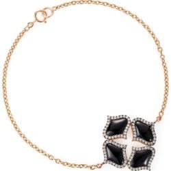 Gyan Jewels Lattice Bracelet In Onyx found on Bargain Bro UK from Harvey Nichols