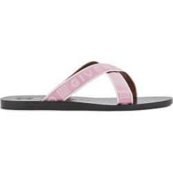 Givenchy Pink Logo Canvas Sliders found on MODAPINS from Harvey Nichols for USD $498.88