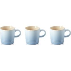 Le Creuset Set Of 3 Stoneware Espresso Mugs Coastal Blue found on Bargain Bro UK from Harvey Nichols