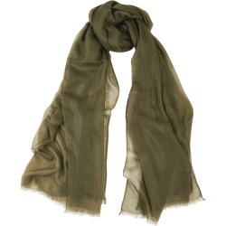 Denis Colomb Feather Toosh Green Fine-knit Cashmere Scarf found on MODAPINS from Harvey Nichols for USD $598.21