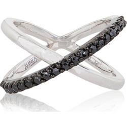 Alinka Jewellery Katia Single Crossover Ring Black Diamonds found on MODAPINS from Harvey Nichols for USD $2523.36