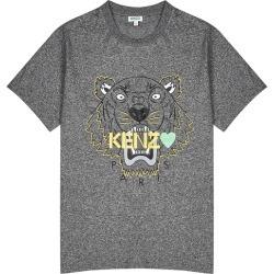 Kenzo Grey Tiger-print Cotton T-shirt found on Bargain Bro UK from Harvey Nichols