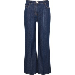 Valentino Indigo High-rise Flared Jeans found on MODAPINS from Harvey Nichols for USD $853.44