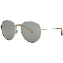 Givenchy Silver-tone Oval-frame Sunglasses found on MODAPINS from Harvey Nichols for USD $294.01
