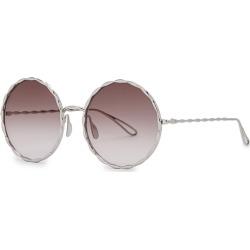 Elie Saab Palladium-plated Round-frame Sunglasses found on MODAPINS from Harvey Nichols for USD $909.06