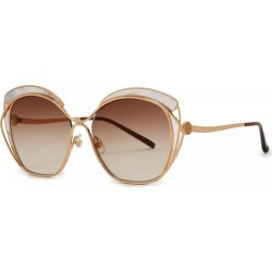 Elie Saab Oversized Round Frame Sunglasses found on MODAPINS from Harvey Nichols for USD $1363.60