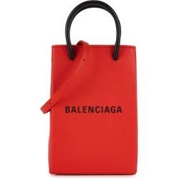Balenciaga Red Logo Leather Cross-body Phone Case found on Bargain Bro UK from Harvey Nichols