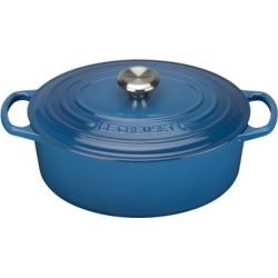 Le Creuset Signature Cast Iron Oval Casserole 29cm Marseille Blue found on Bargain Bro UK from Harvey Nichols