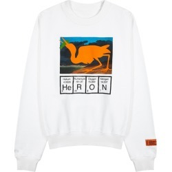 Heron Preston Heron Cutout White Printed Cotton Sweatshirt found on MODAPINS from Harvey Nichols for USD $456.46