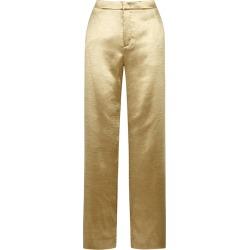 Vince Gold Wide-leg Satin Trousers