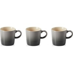 Le Creuset Set Of 3 Stoneware Espresso Mugs Flint found on Bargain Bro UK from Harvey Nichols