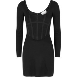 Dion Lee Black Ribbed Jersey Corset Mini Dress found on MODAPINS from Harvey Nichols for USD $933.88