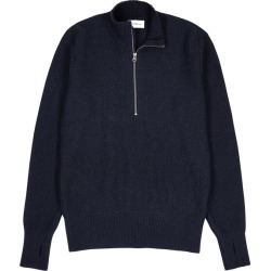 Oliver Spencer Navy Half-zip Wool Jumper found on MODAPINS from Harvey Nichols for USD $324.32