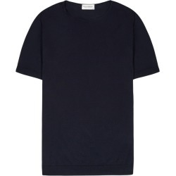 John Smedley Belden Navy Fine-knit Cotton T-shirt found on MODAPINS from Harvey Nichols for USD $148.54
