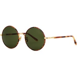 Linda Farrow Luxe Welch Tortoiseshell Round-frame Sunglasses found on MODAPINS from Harvey Nichols for USD $819.87