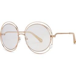 Chloé Carlina Rose Gold-tone Round-frame Sunglasses found on Bargain Bro UK from Harvey Nichols