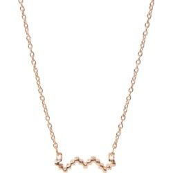 Jewel Tree London Baori Silhouette Necklace - Rose Gold Vermeil found on Bargain Bro UK from Harvey Nichols