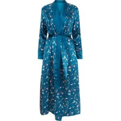 MENG Blue Shawl-collared Robe found on MODAPINS from Harvey Nichols for USD $1252.37