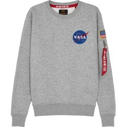 Alpha Industries Space Shuttle Grey Cotton-blend Sweatshirt found on MODAPINS from Harvey Nichols for USD $113.08