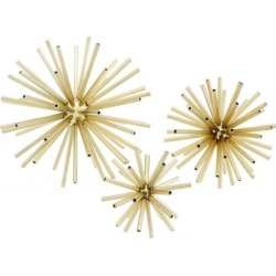 Eichholtz Meteor Object Set Of 3 Brass found on Bargain Bro UK from Harvey Nichols