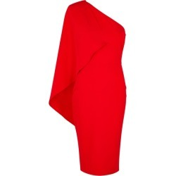 Lavish Alice Red One-shoulder Midi Dress found on MODAPINS from Harvey Nichols for USD $90.52