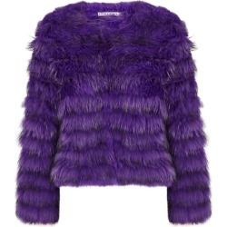 Alice + Olivia Fawn Purple Fur Jacket found on Bargain Bro UK from Harvey Nichols