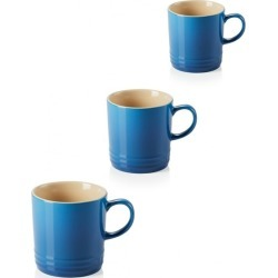 Le Creuset Set Of 3 Stoneware 350ml Mugs Marseille Blue found on Bargain Bro UK from Harvey Nichols