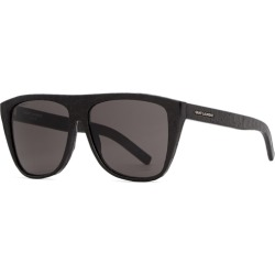 Saint Laurent New Wave 1 D-frame Leather Sunglasses found on Bargain Bro UK from Harvey Nichols
