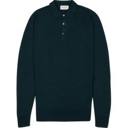 John Smedley Belper Teal Merino Wool Polo Shirt found on MODAPINS from Harvey Nichols for USD $246.17