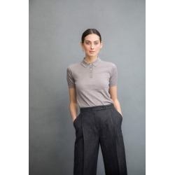 Johnstons Of Elgin Fawn Superfine Womens Cashmere Silk Polo Shirt found on MODAPINS from Harvey Nichols for USD $375.99