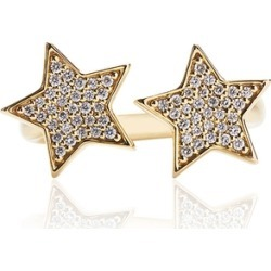 Alinka Jewellery Stasia Two Star Ring Yellow Gold found on MODAPINS from Harvey Nichols for USD $3335.51