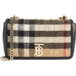 Burberry Lola Small Checked Cashmere And Leather Shoulder Bag found on MODAPINS from Harvey Nichols for USD $1795.96
