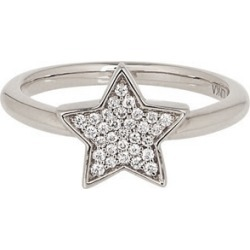 Alinka Jewellery Stasia Single Star Ring White Gold found on MODAPINS from Harvey Nichols for USD $1901.26
