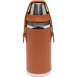 Ettinger 8oz Leather Bound Hunter's Flask With 4 Cups - Tan found on Bargain Bro UK from Harvey Nichols