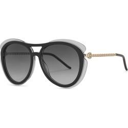 Elie Saab Grey Aviator-style Sunglasses found on MODAPINS from Harvey Nichols for USD $340.90