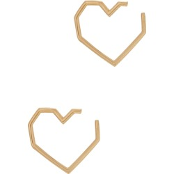 Aliita Corazon Pura 18kt Gold Heart Earrings found on MODAPINS from Harvey Nichols for USD $172.21