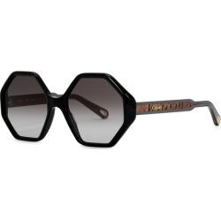 Chloé Willow Black Octagonal-frame Sunglasses found on Bargain Bro UK from Harvey Nichols