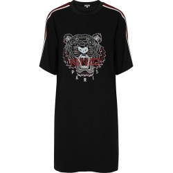 Black tiger-embroidered T-shirt dress found on MODAPINS from Harvey Nichols US for USD $465.00