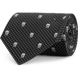 Alexander McQueen Black Skull-jacquard Tie found on MODAPINS from Harvey Nichols for USD $154.84