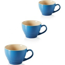 Le Creuset Set Of 3 Stoneware Grand Mugs Marseille Blue found on Bargain Bro UK from Harvey Nichols
