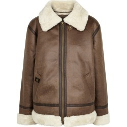 Alpha Industries B3 Brown Faux Leather Jacket found on MODAPINS from Harvey Nichols for USD $312.63